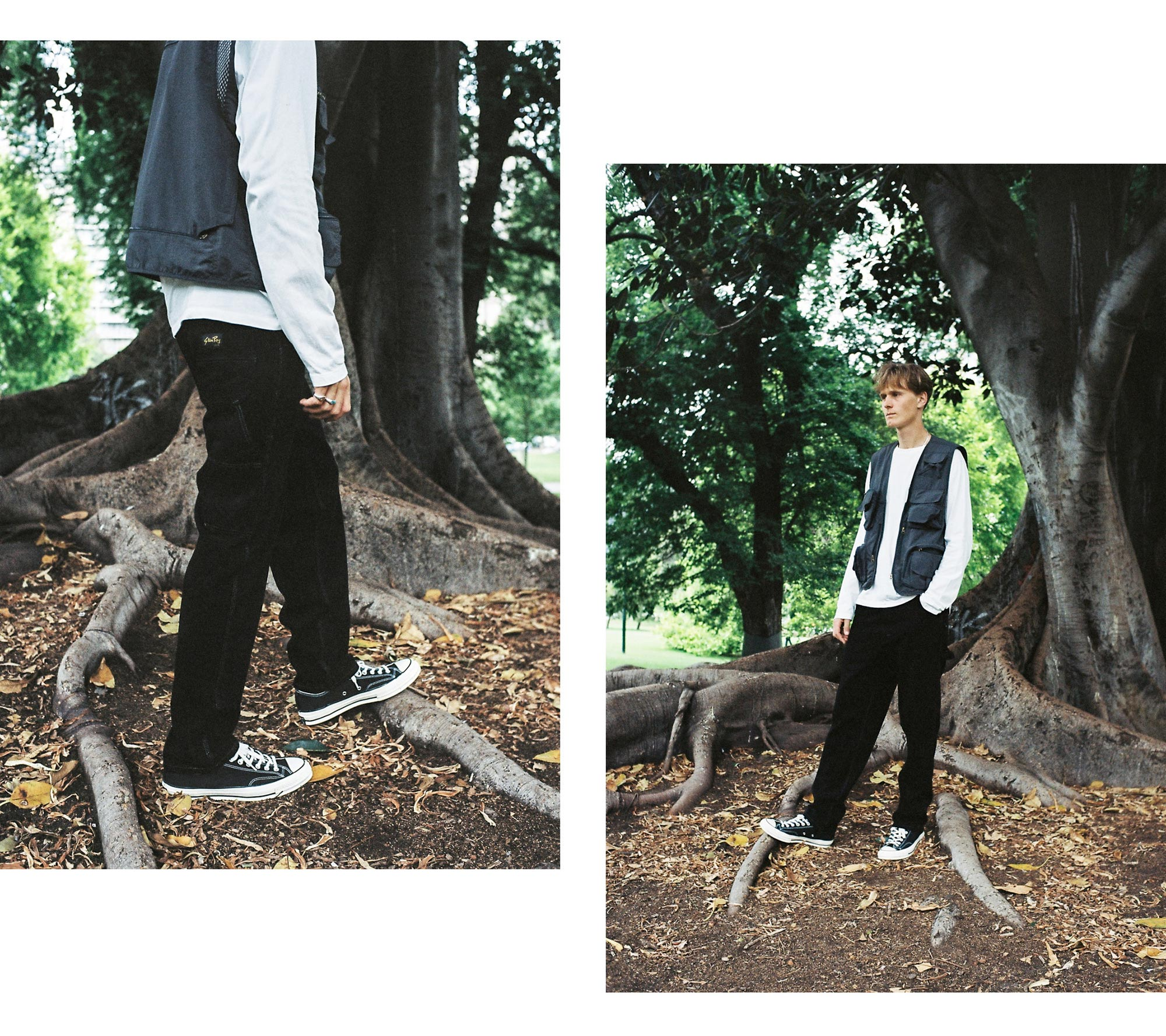 Stan Ray USA December Editorial 80's Painter Pant Black OD Hickory