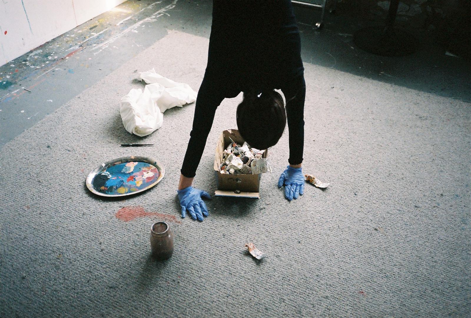 Charlotte Alldis in her studio