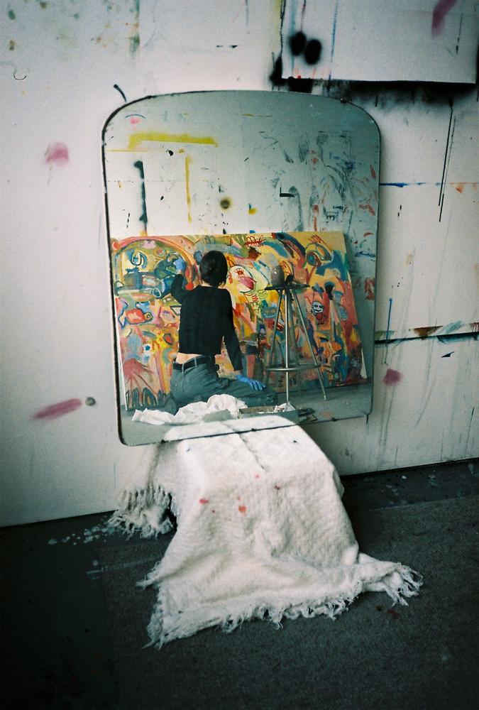 Charlotte in her studio