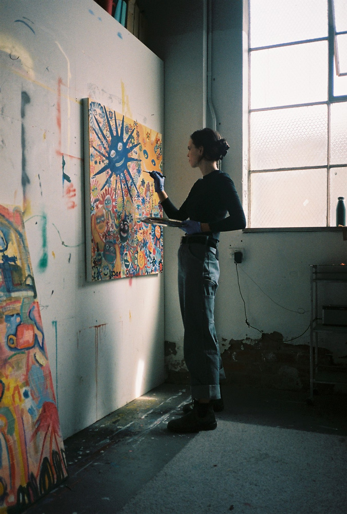 Stan Ray features Charlotte Alldis in her studio