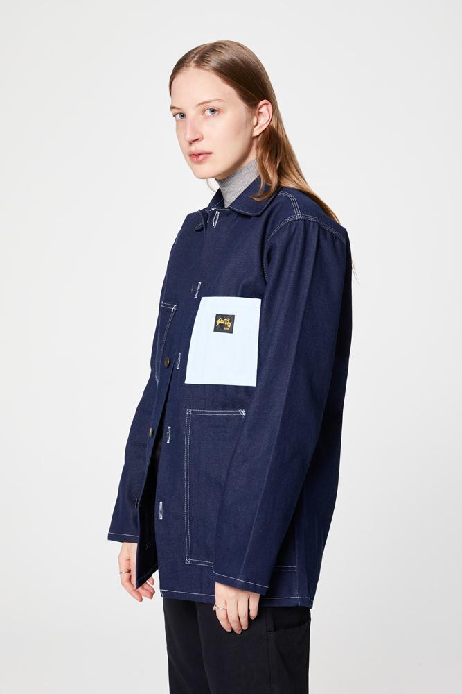 Shop Jacket - Indigo Denim / Winter Sky