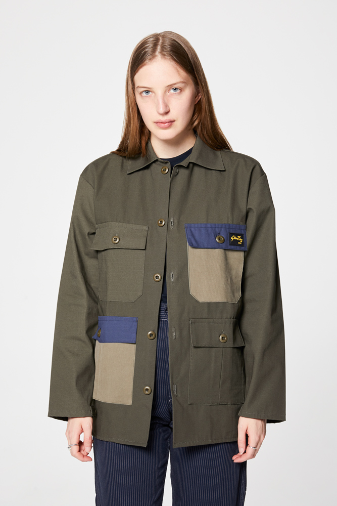 Tropical Jacket - Olive Ripstop / Multi