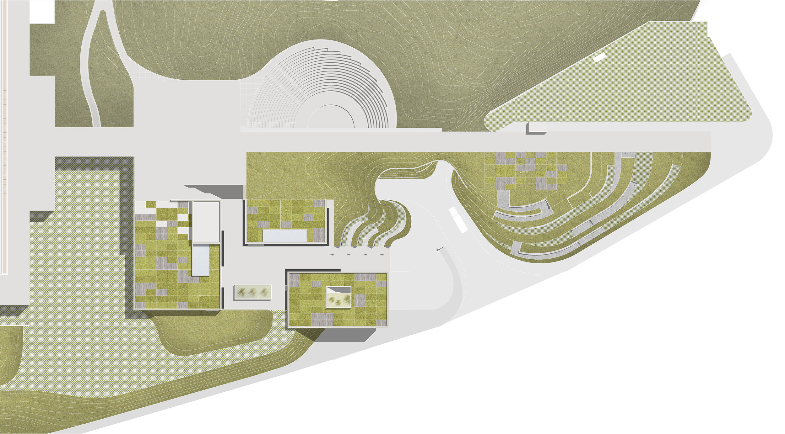 Chuncheon Museum | 국립춘천박물관 복합어린이문화관   3rd prize winner of Chuncheon National Museum Annex competition entry. Innovative landform design is proposed to be a new platform of cultural education, exchange, and leisure activities.