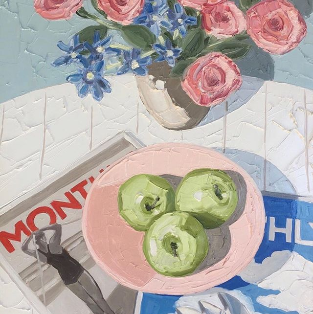 Colour pallet inspiration via @esthereckley 🍏 🌹