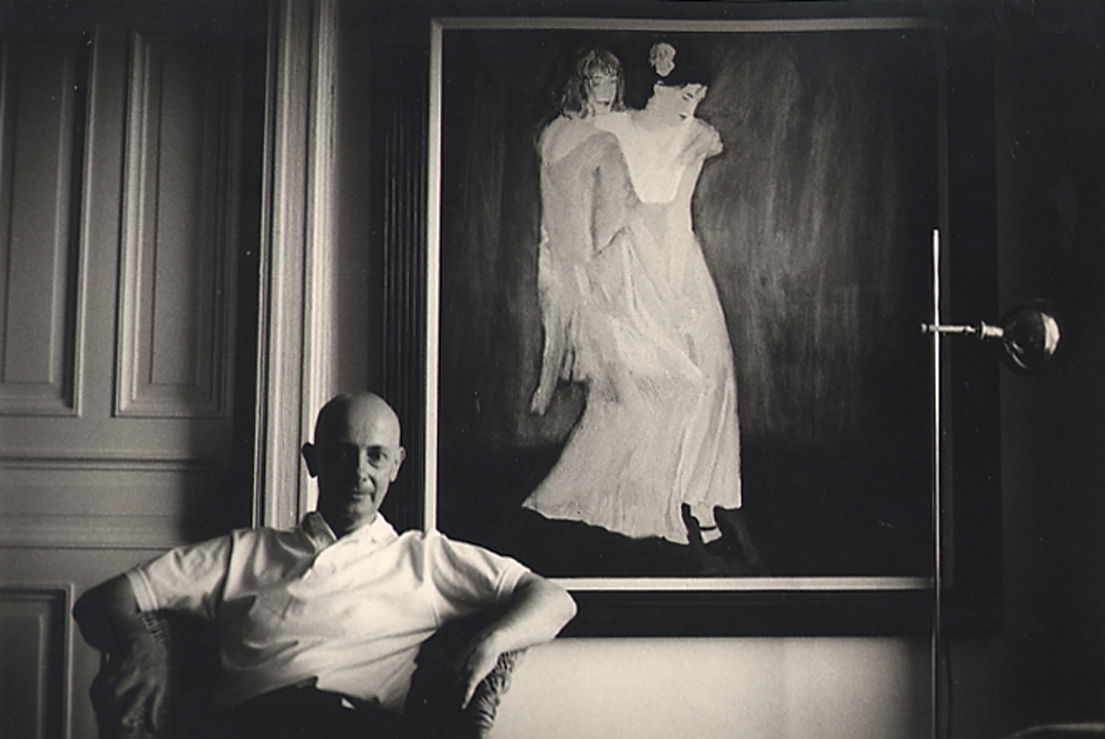 David Remfry at the Hotel Chelsea, New York. © Dudley Reed / National Portrait Gallery, London