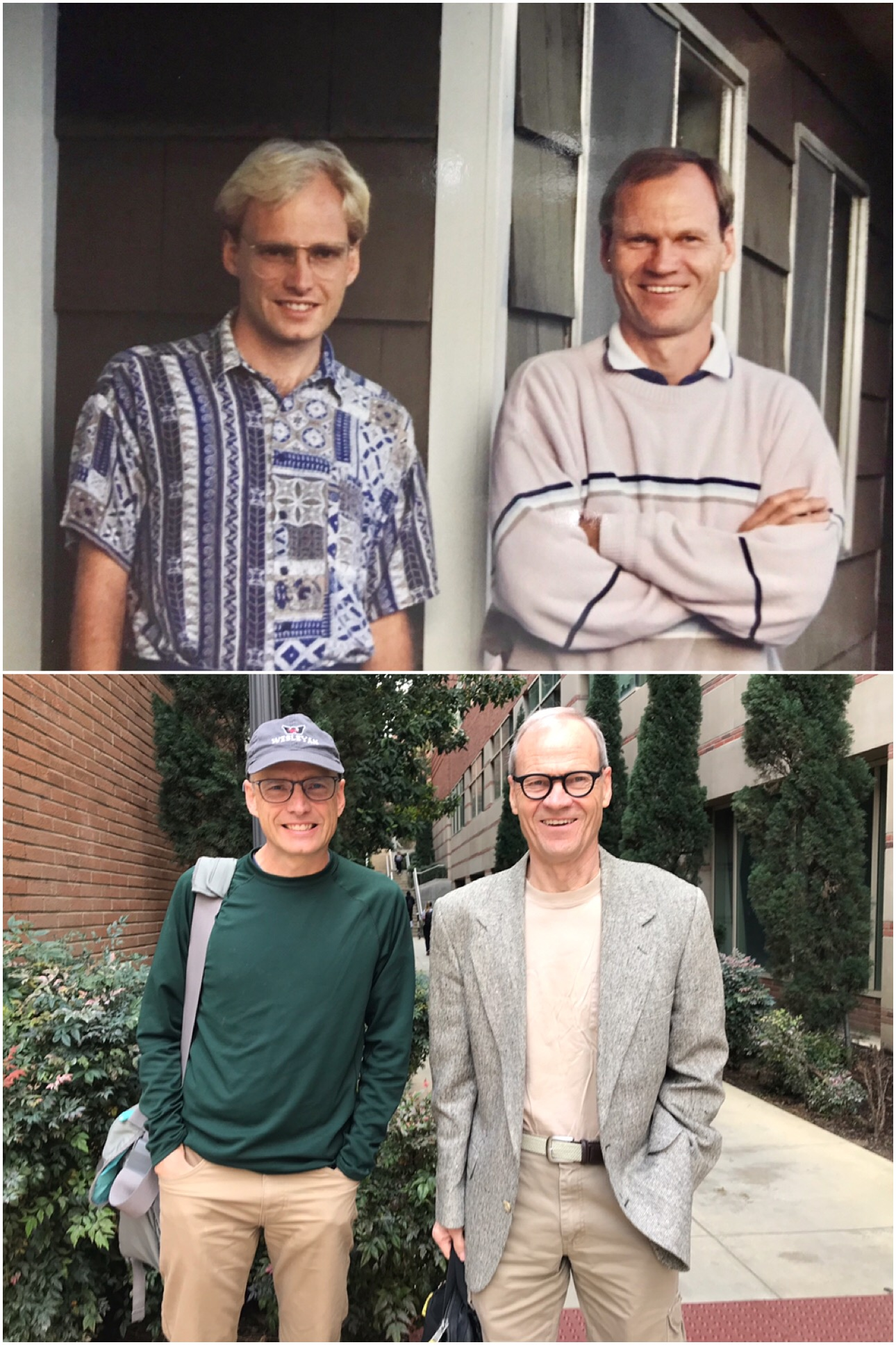 25 years apart. Photo courtesy of Peter Petersen.