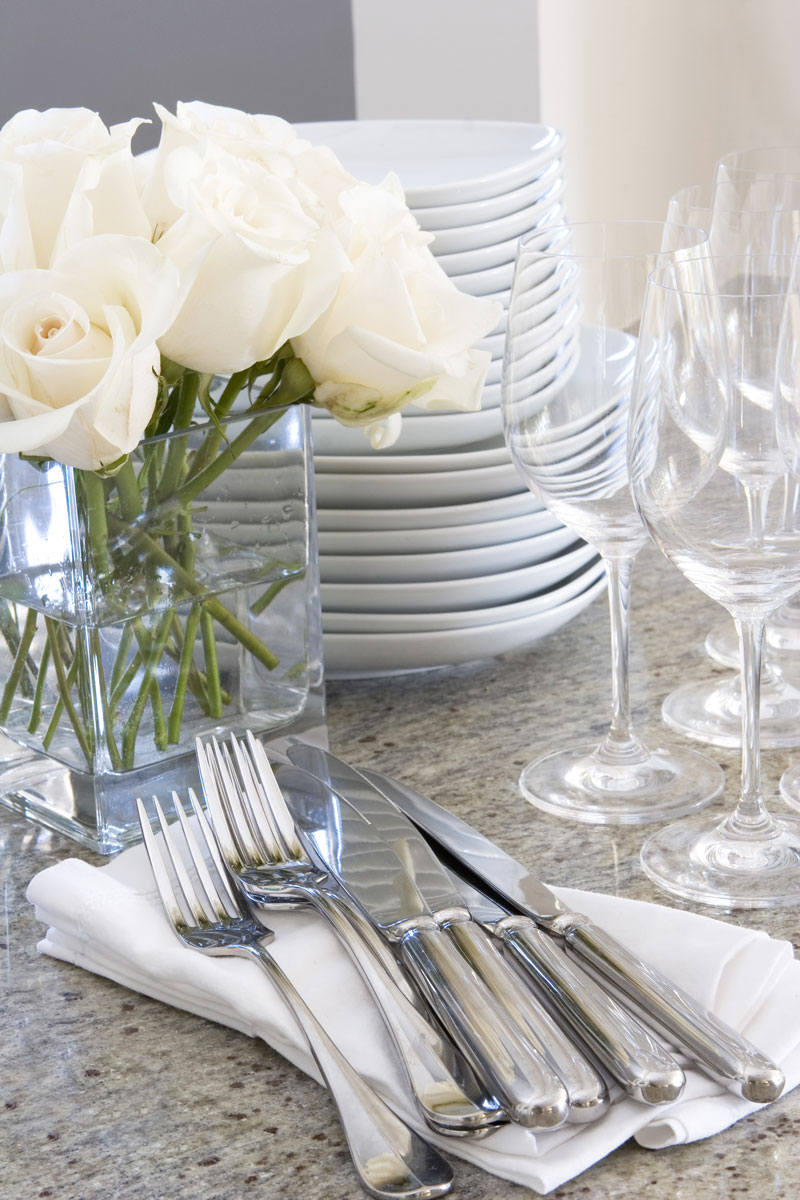 Product Rentals - We'll bring everything but the kitchen sink isn't an understatement.We are happy to offer our clients the products they need to host the most perfect event. We offer glassware, silverware, plates, and much more. This service offers pickup, delivery and cleaning options. Our dinnerware is the highest quality, simplistic, classic and everything needed to compliment our delicious catering. We're happy to answer any questions you may have and look forward to helping you in the process.