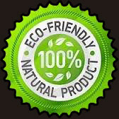 100% Eco-Friendly Natural Products Logo