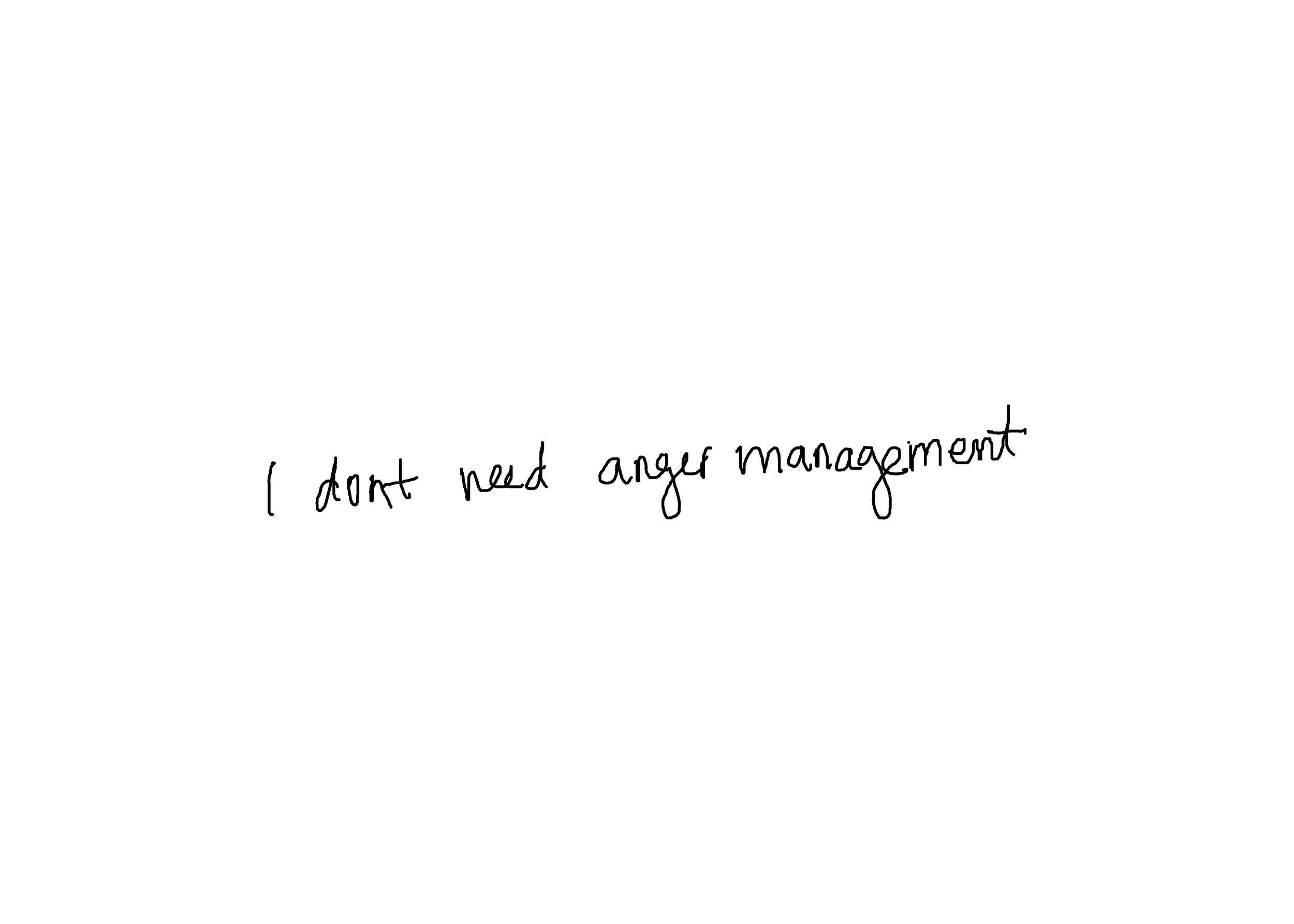 First postcard in Anger Management program