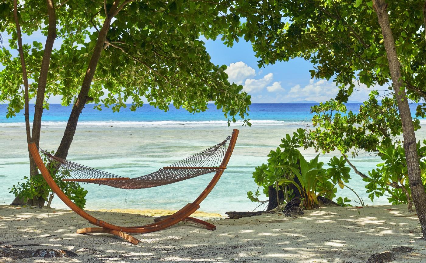 Stunning beach view at the resort