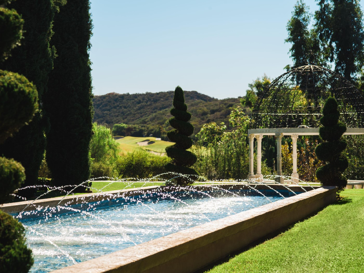 Water feature in the gardens.