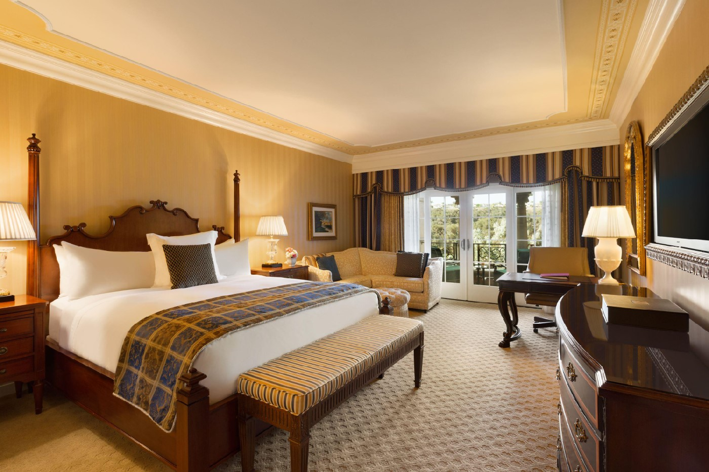Grand Del Mar deluxe bedroom.