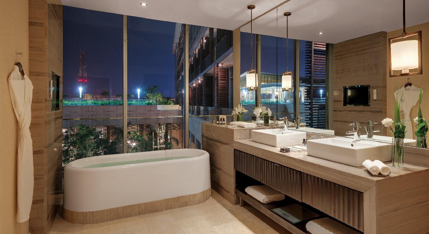 Bathroom with a view at Kempinski Hotel Gold Coast City