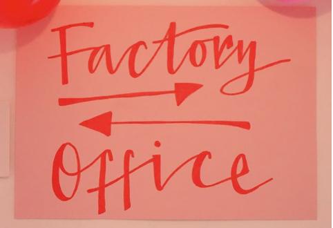 Lara Intimates office sign.