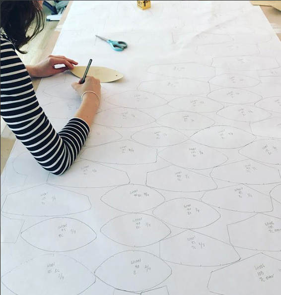 Lara Intimates co-founder Faith pattern cutting