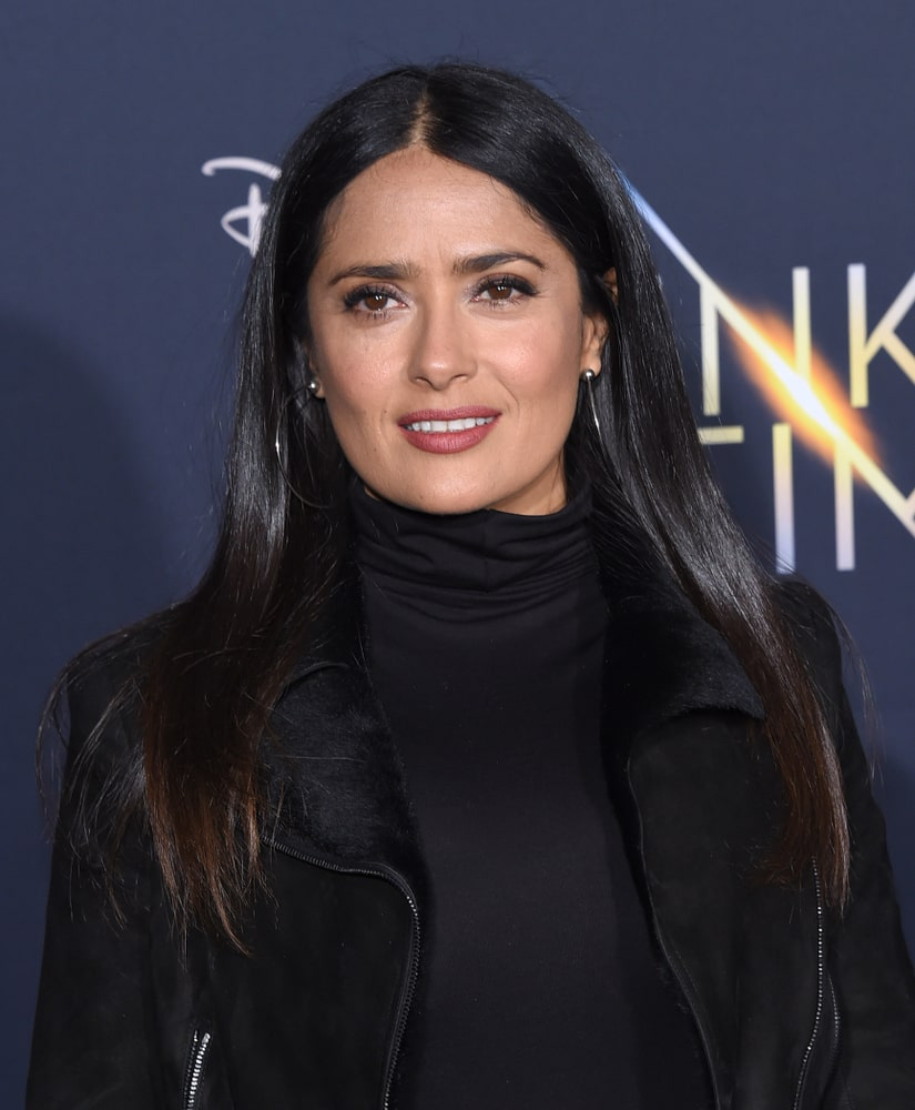 Salma Hayek attending the wrinkle in time premiere