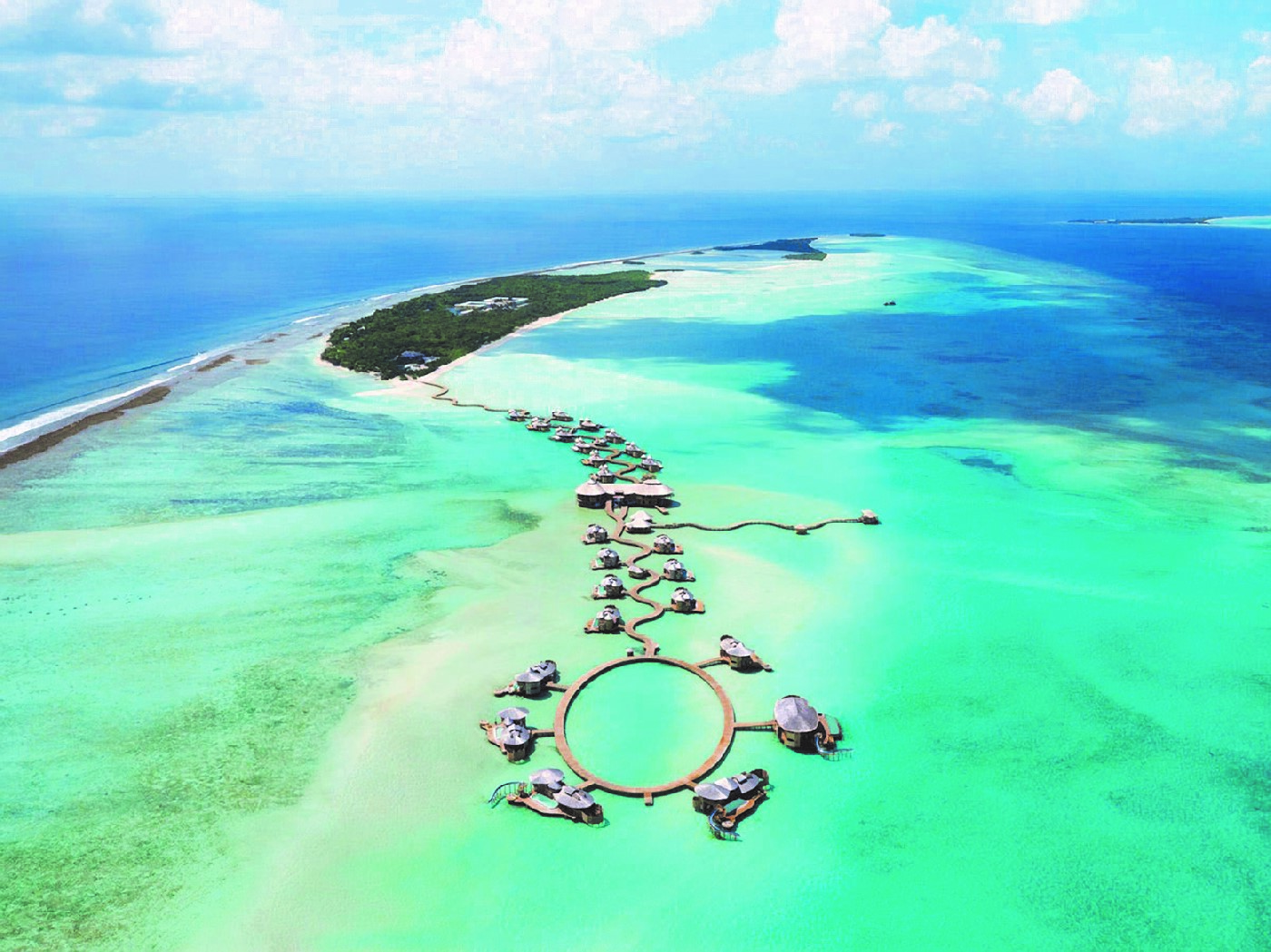 Aerial view of Soneva Resort Maldives