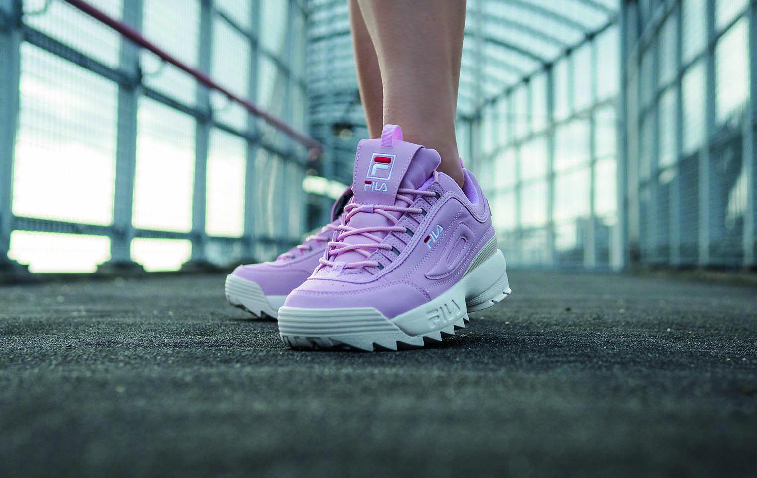 Fila pink hiking style