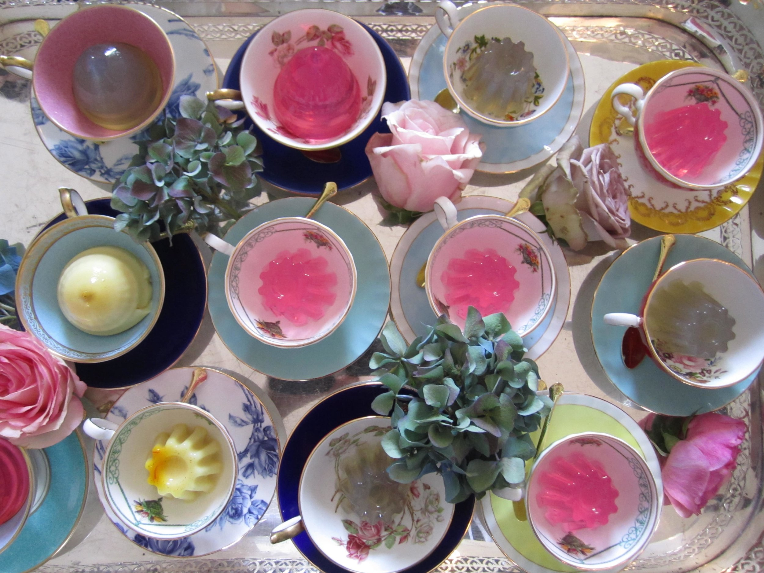 Bompas and Parr jelly displayed in teacups