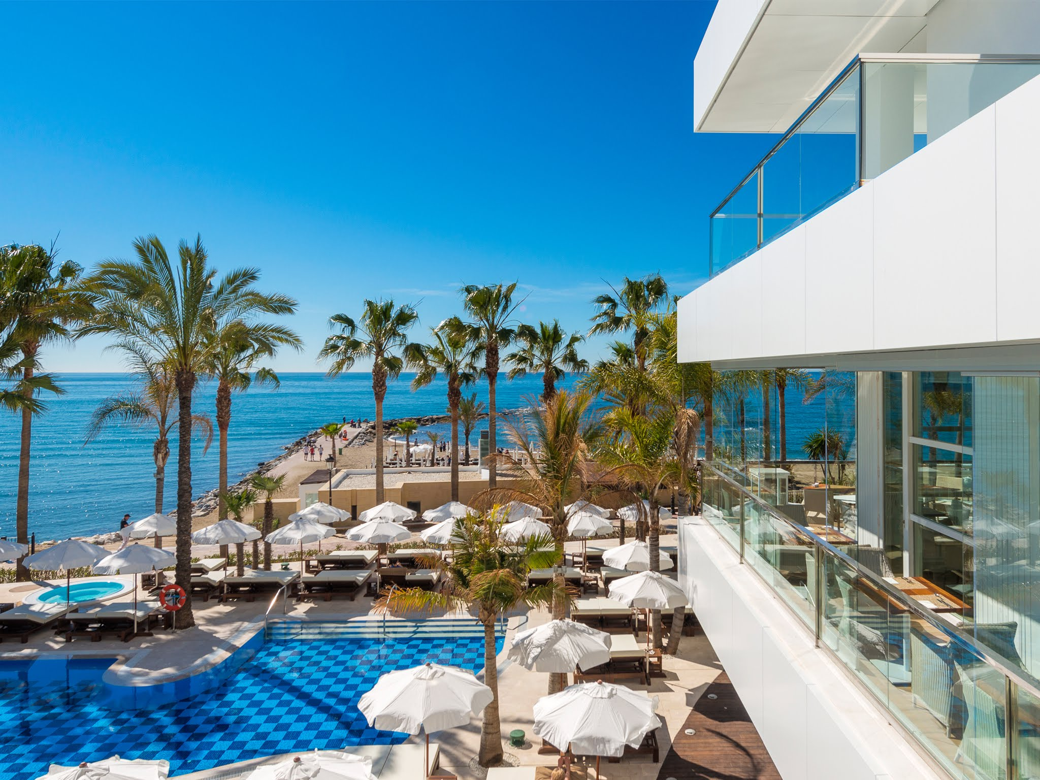 Pool view from the Amare Beach Hotel Marbella