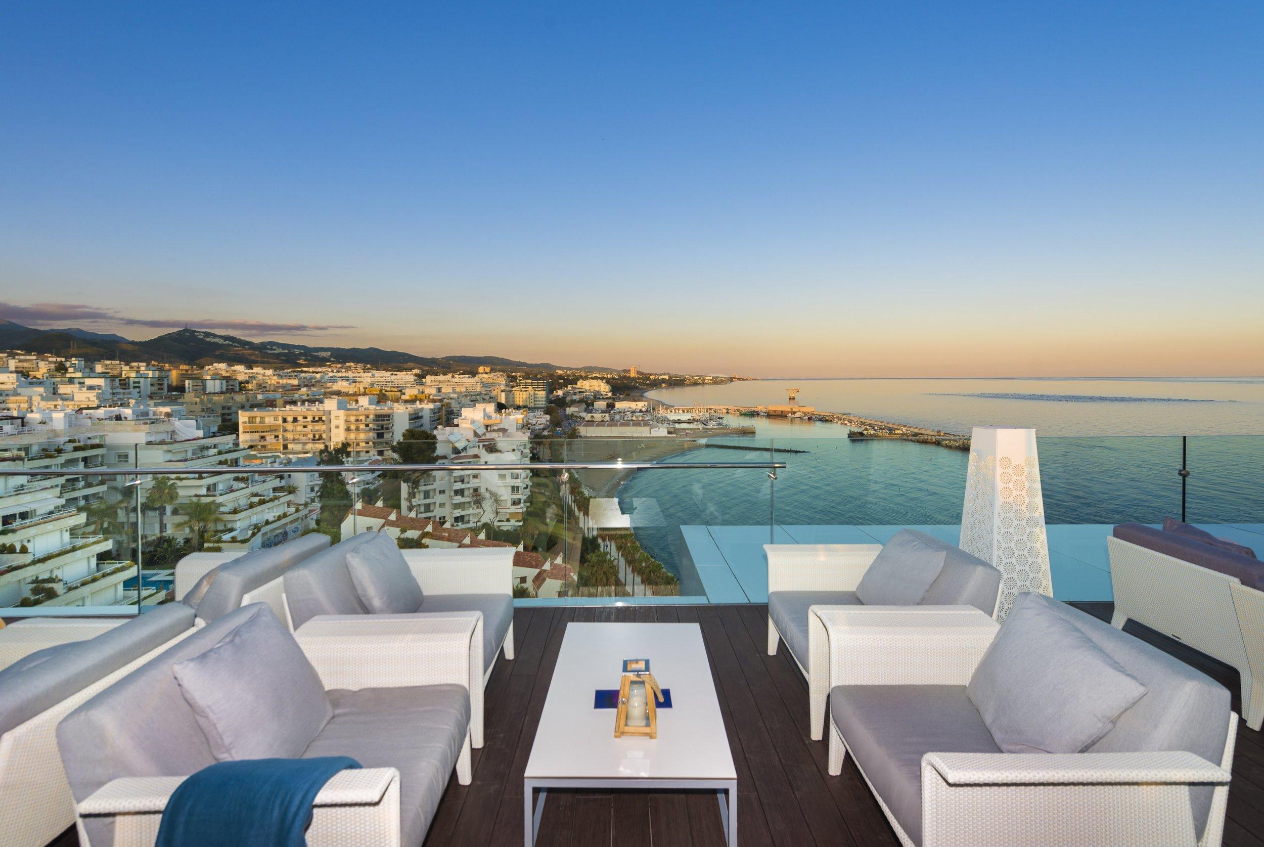 Amare Beach Hotel Marbella rooftop bar
