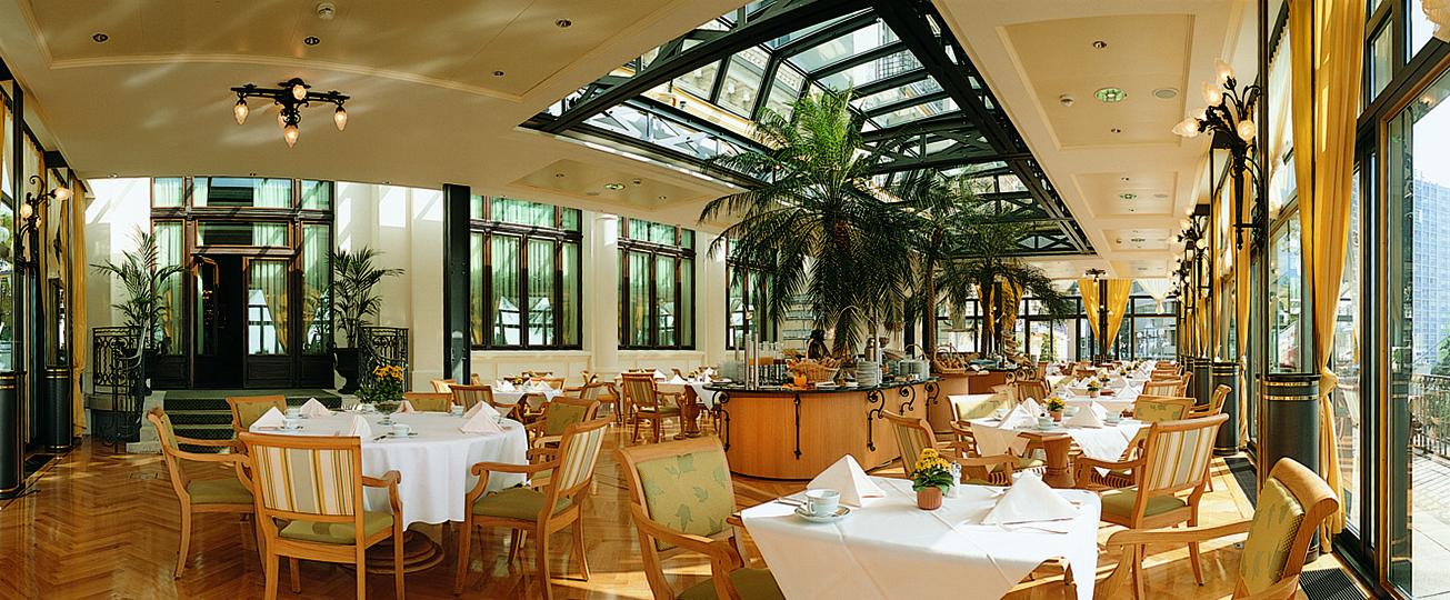Palmeraie restaurant at Fairmont Le Montreux Palace