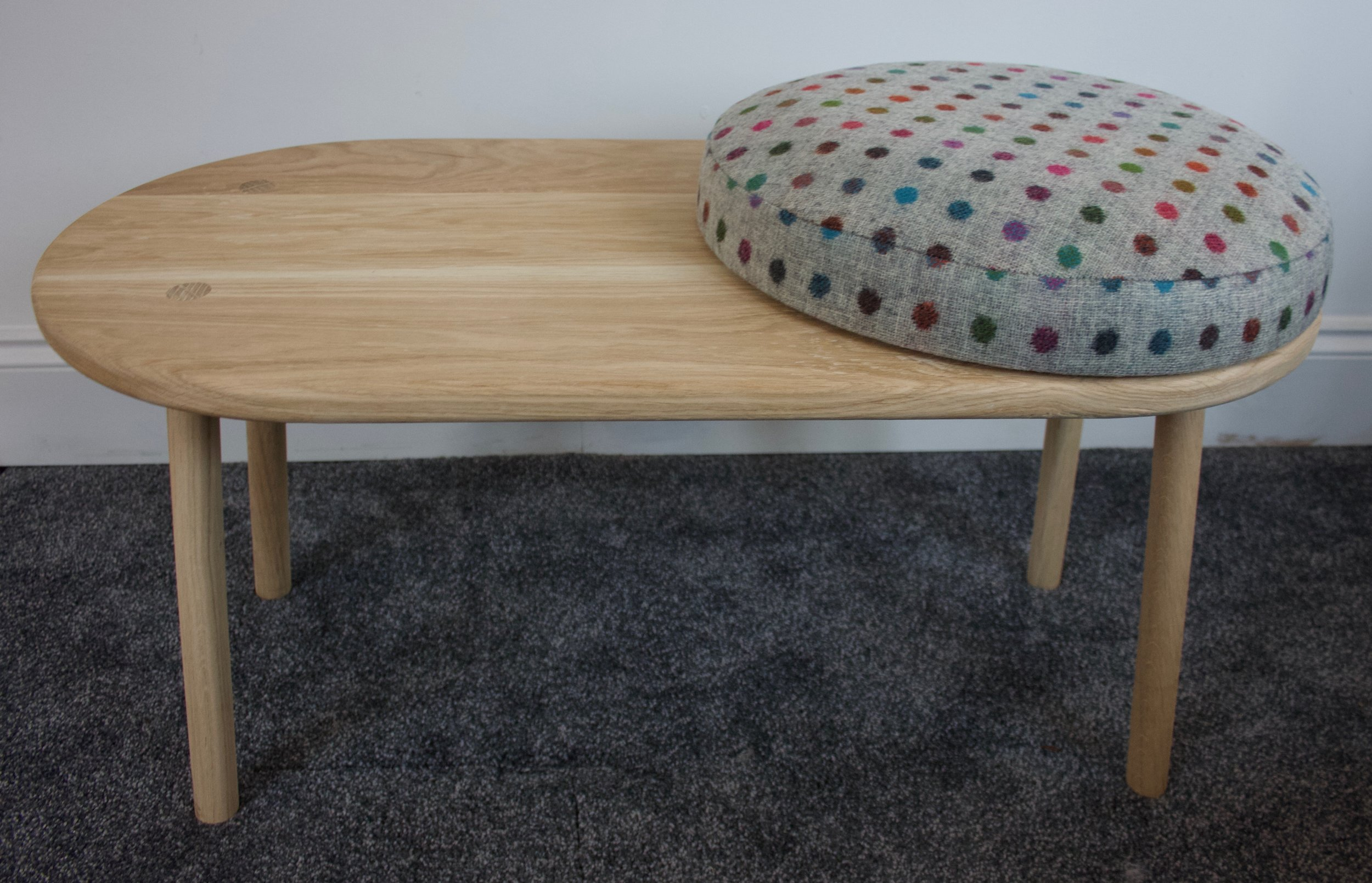 Oak Coffee Table And Footstool The Journeyman Co