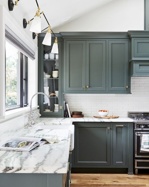 painted cabinets @housebeautiful
