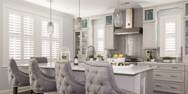Kitchen Shutters by Sunburst Shutters