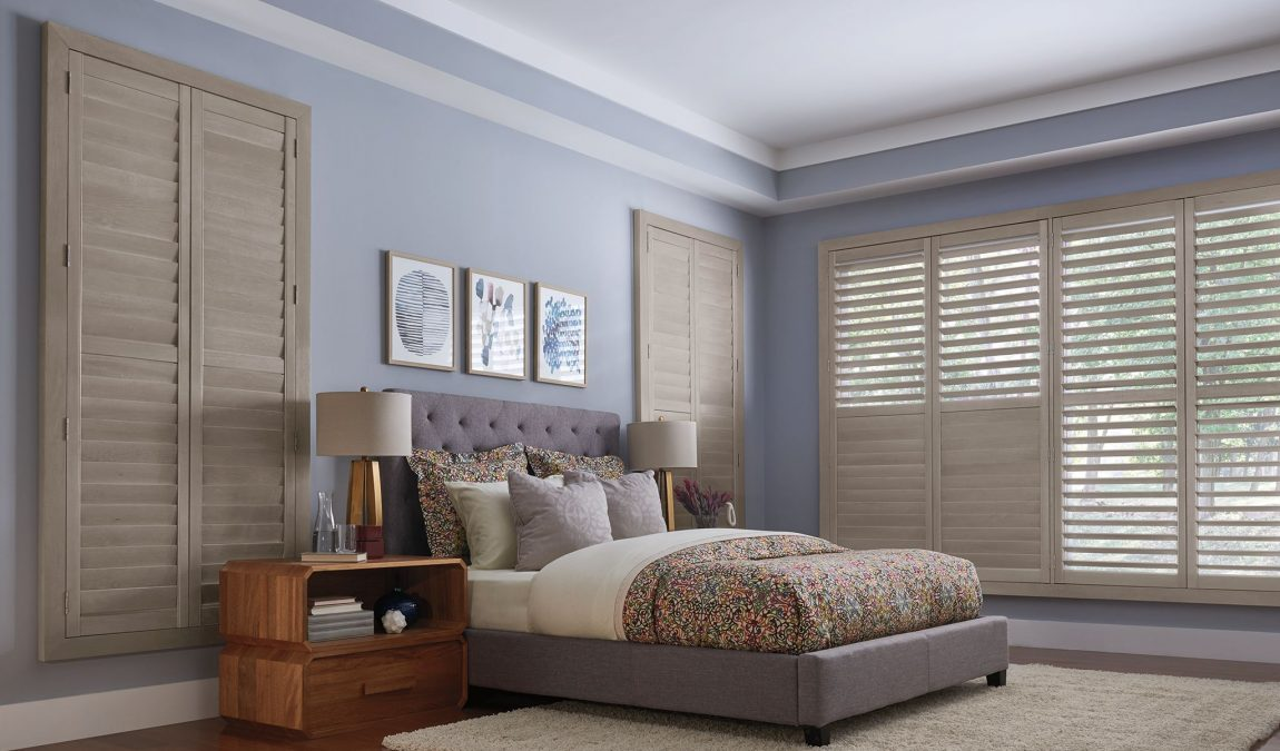 Bedroom Shutters by Just Blinds Inc.