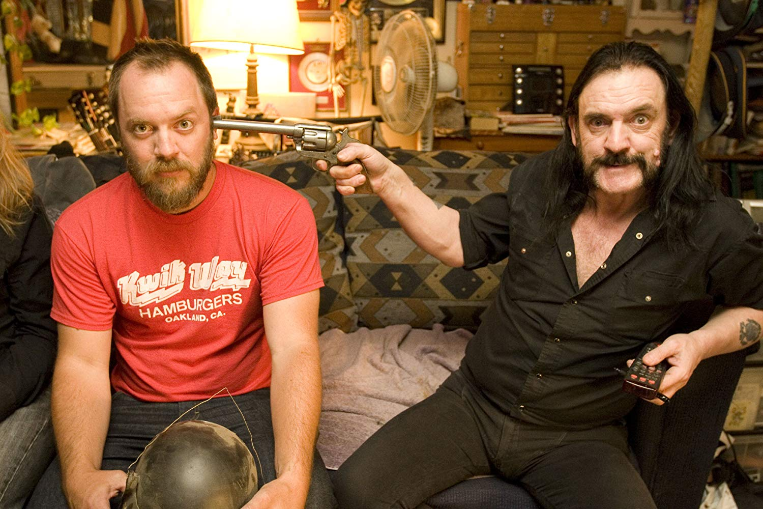 "Director Greg Olliver (L) on the ""set"" of ""LEMMY"". Image © Lemmy Movie LLC"