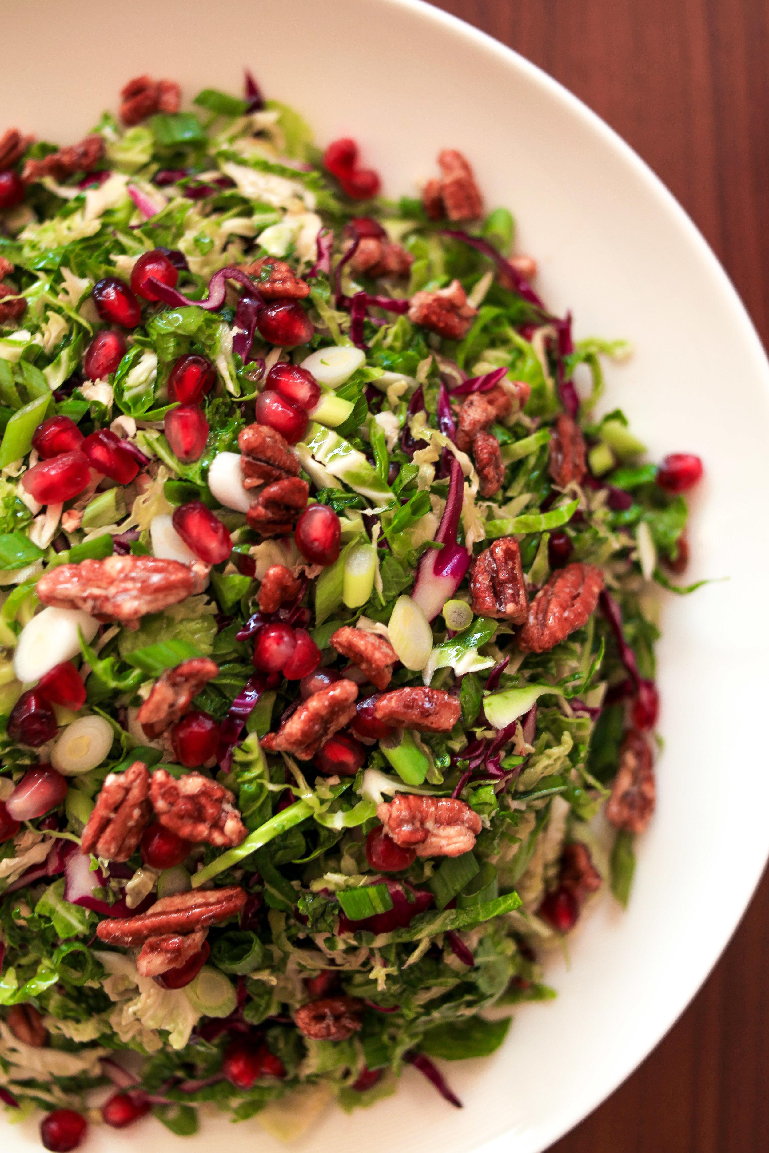 brussels sprout salad VEGG