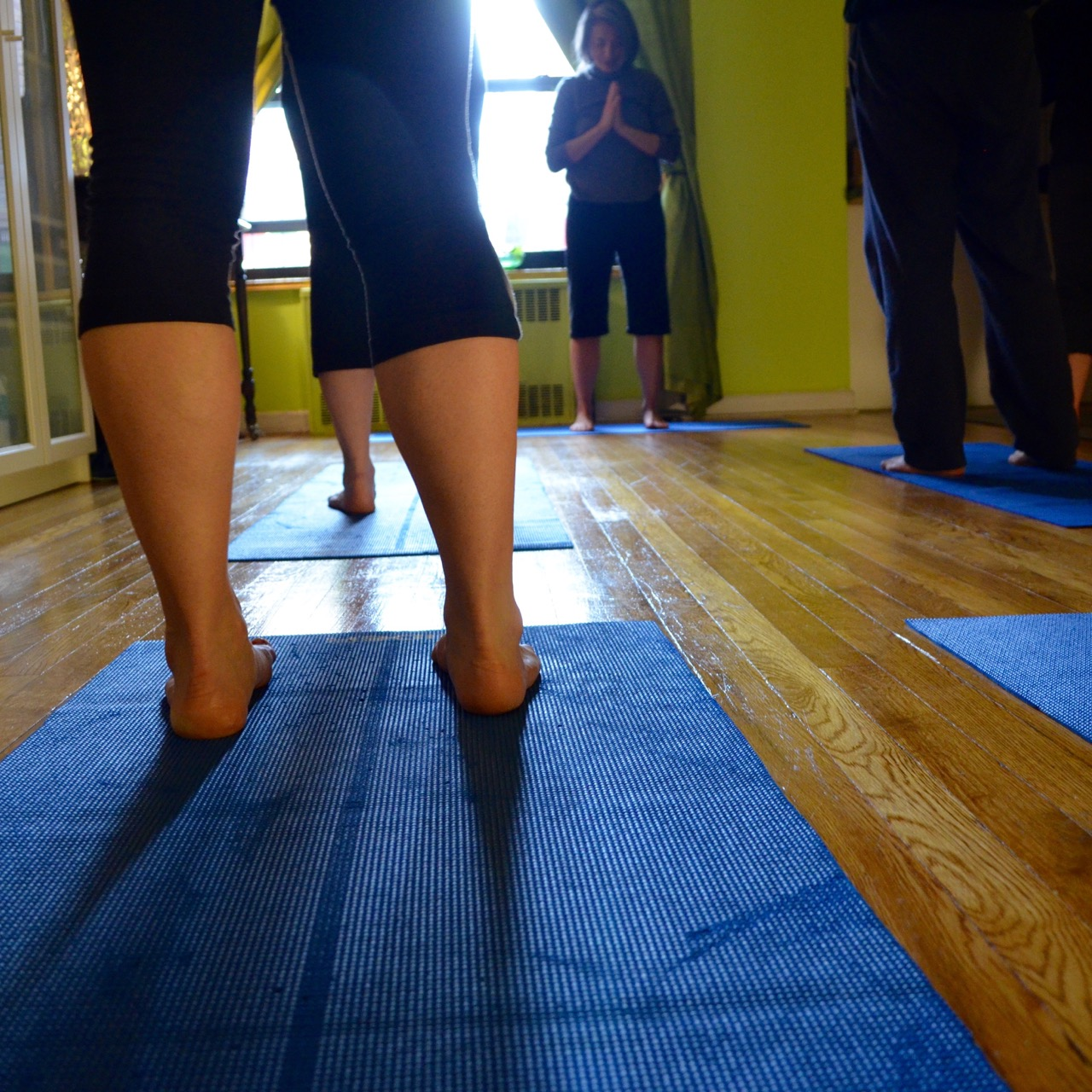 A punk rock singer turned yoga teacher in Jackson Heights got rid of all her furniture to turn her studio apartment into a yoga studio.