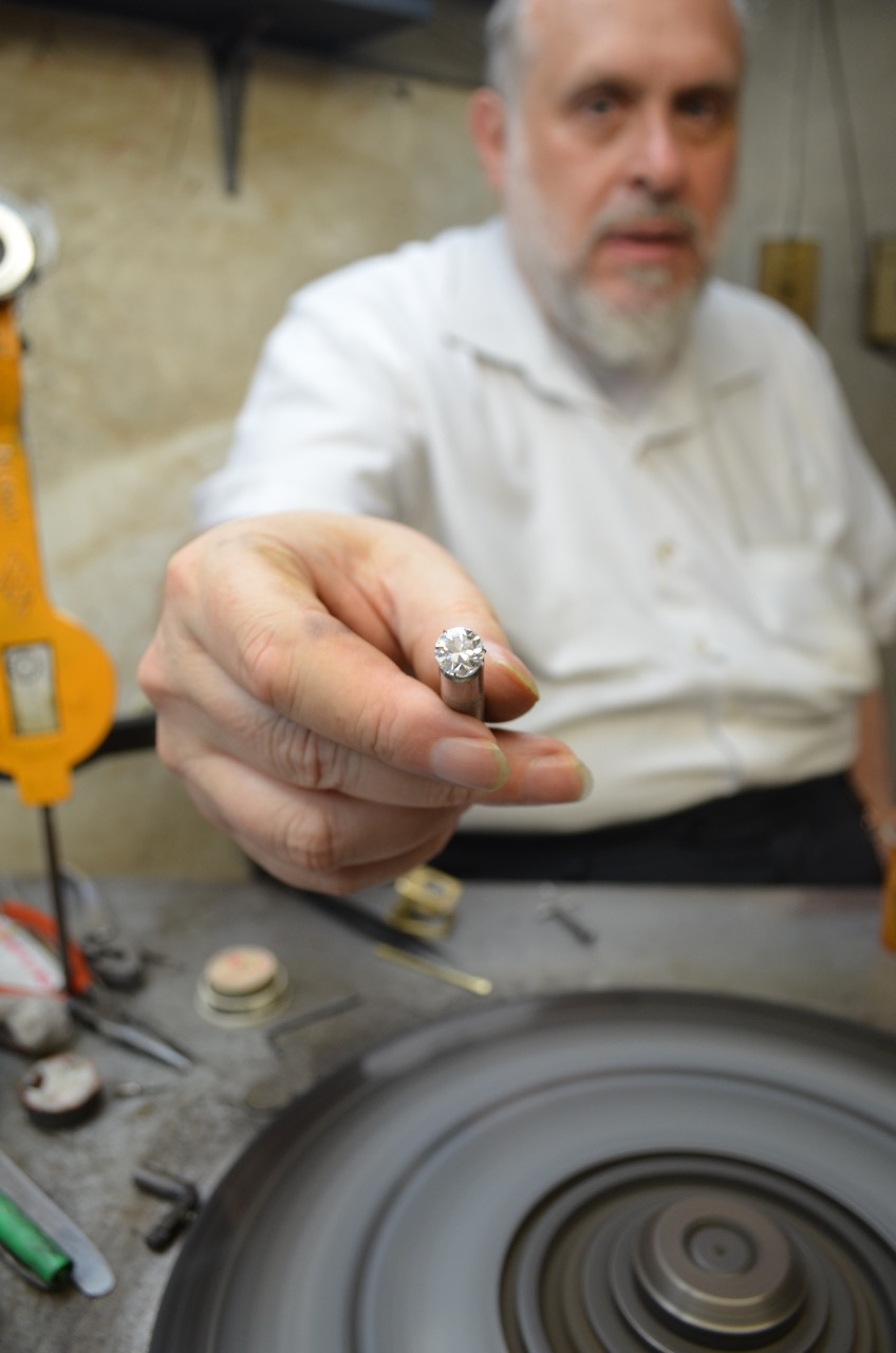 Diamond cutter Zev Weitman toiled in his cramped factory for decades searching for a new way to cut diamonds to make them sparklier.