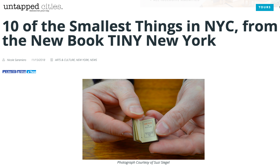 Untapped Cities: 1o of the Smallest Things in NYC, from the New Book, Tiny New York