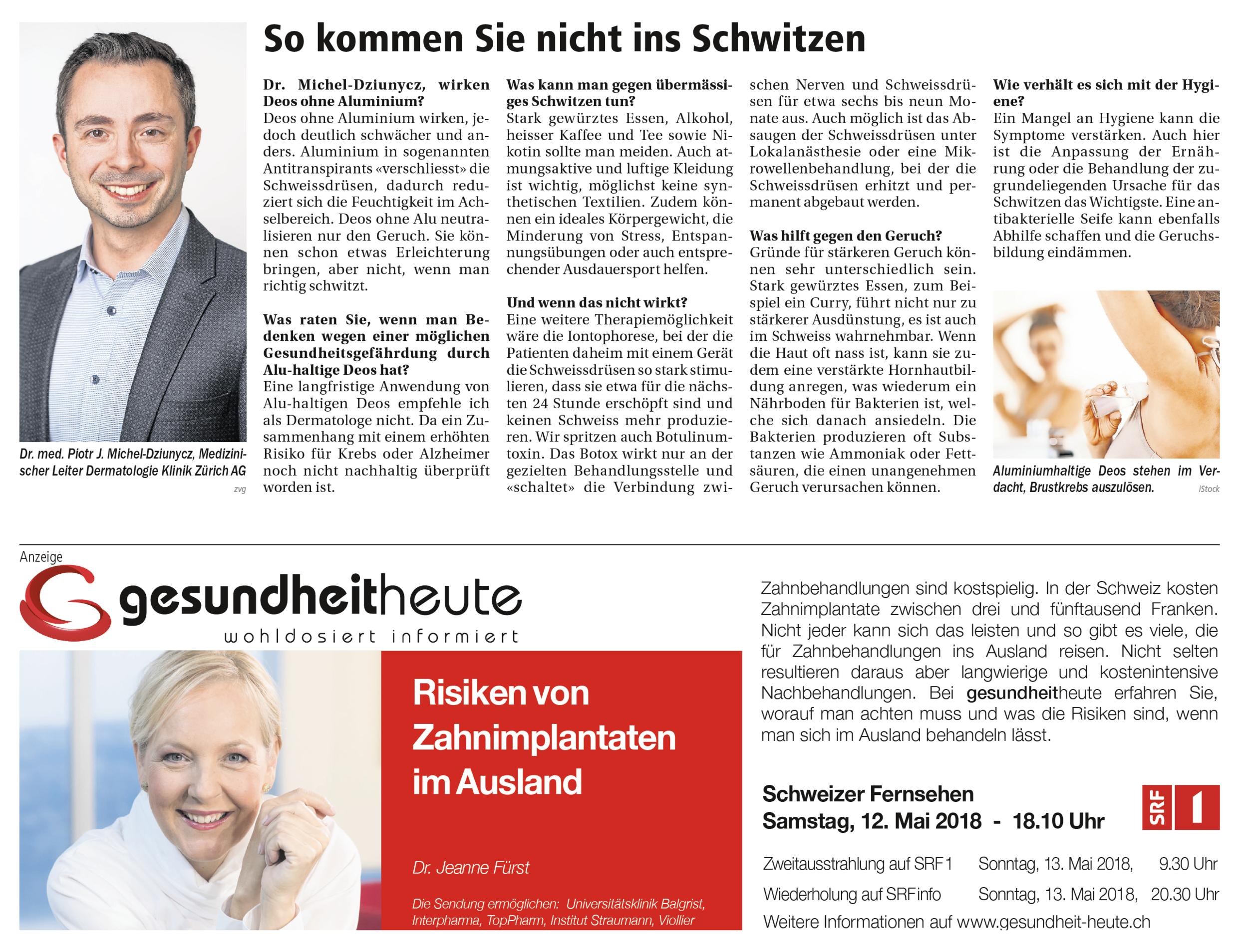 Dermatologie Klinik Zürich - Gesundheit Heute