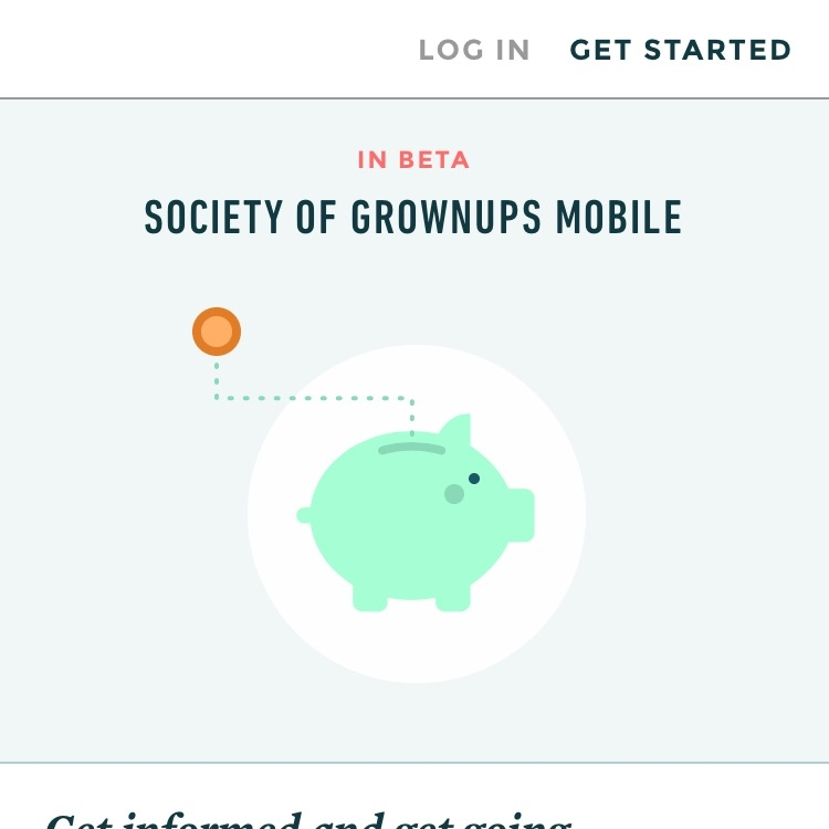 Developed concept for Society of Grownups mobile education app - Society of Grownups