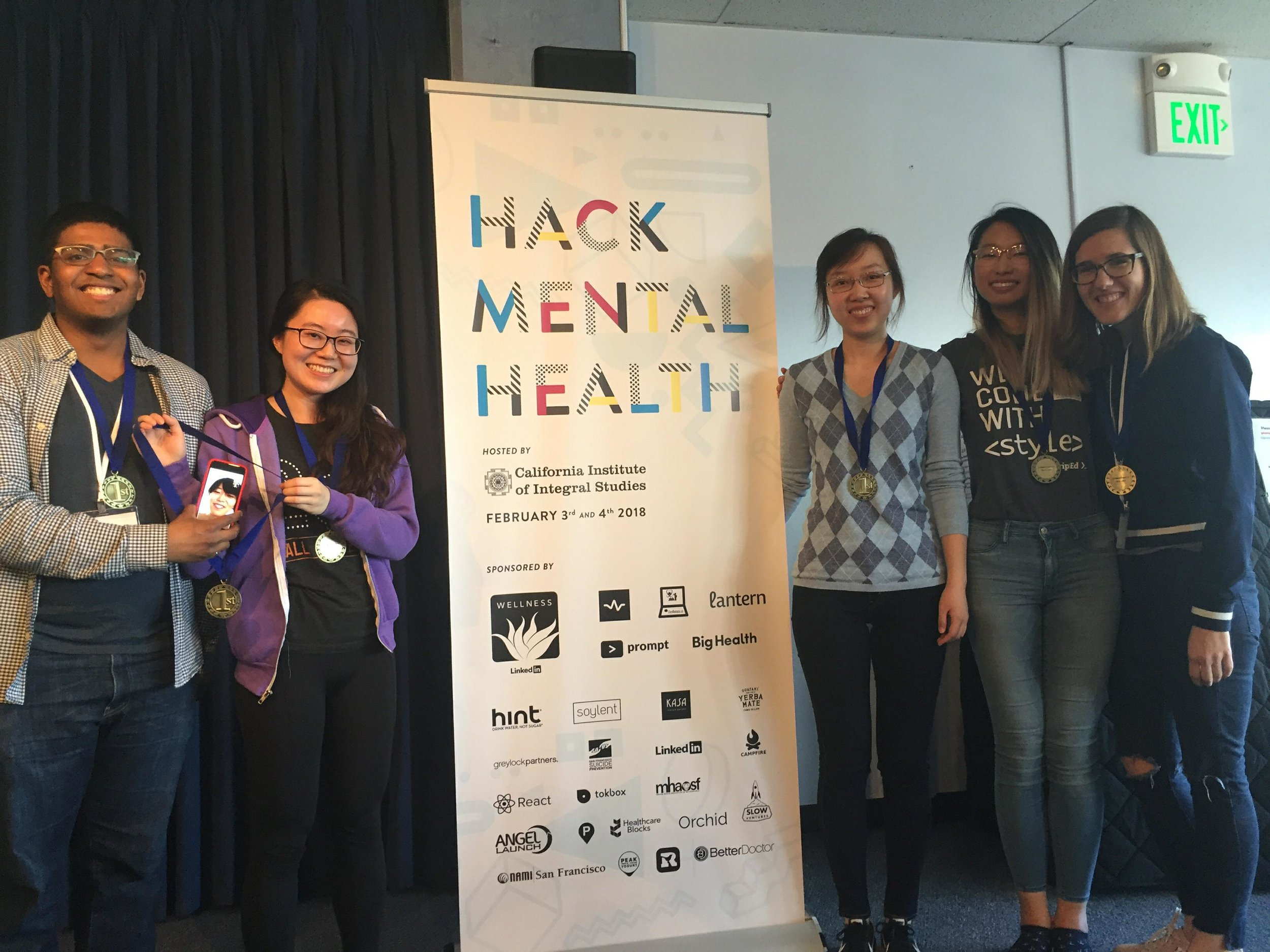 Congratulations to Huddle, the winners of HackMentalHealth
