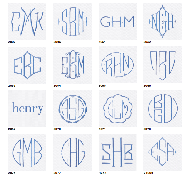 Quick Ship Matouk Monogram Service through A. HOME offers expedited delivery on a curated selection of our embroidered monograms. The same craftsmanship and quality you expect from us and Matouk, now delivered in half the time. The monogram styles shown here, applied to in-stock merchandise, will ship in two weeks.