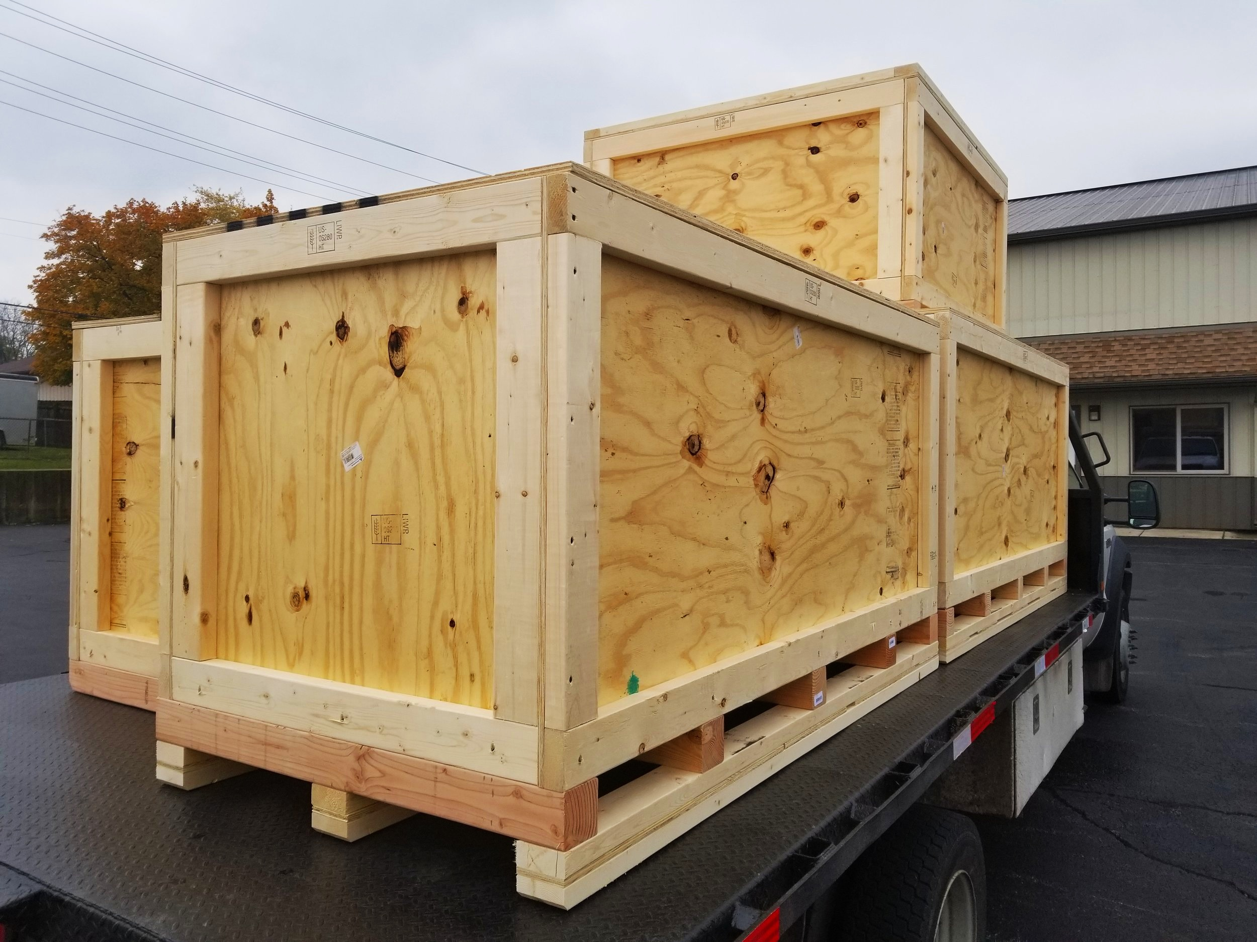 Contact us for crates and custom skids, ISPM-15certified for export. -