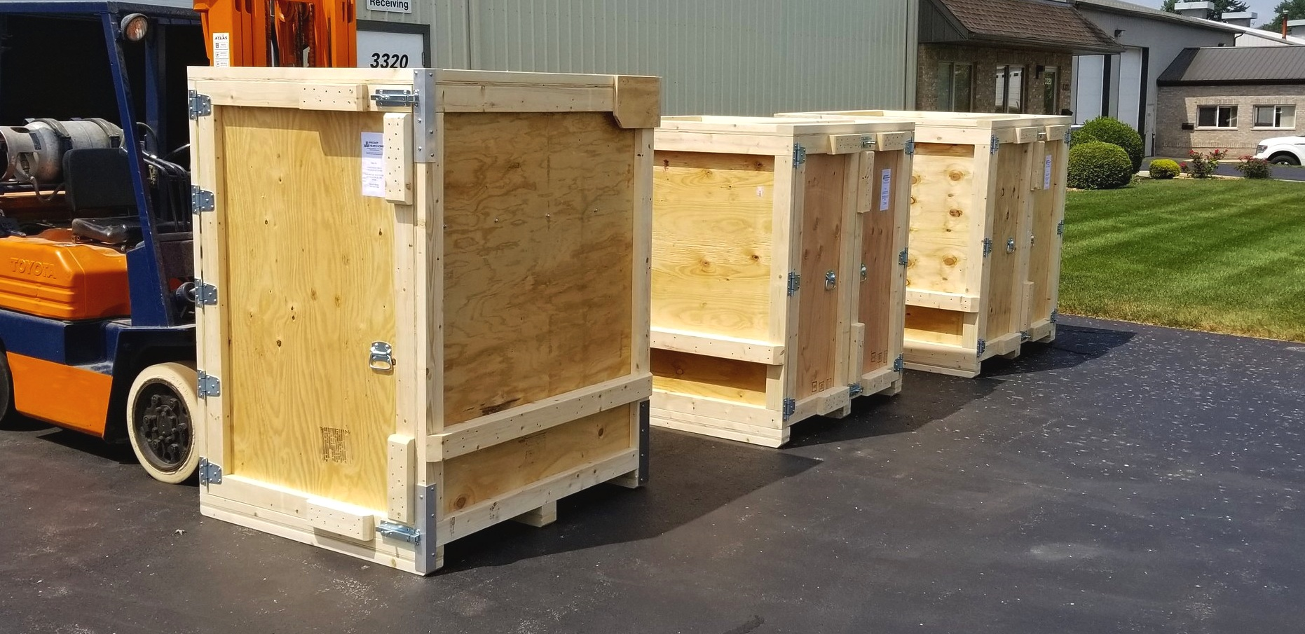 Custom trade show re-usable crates. Built right. -