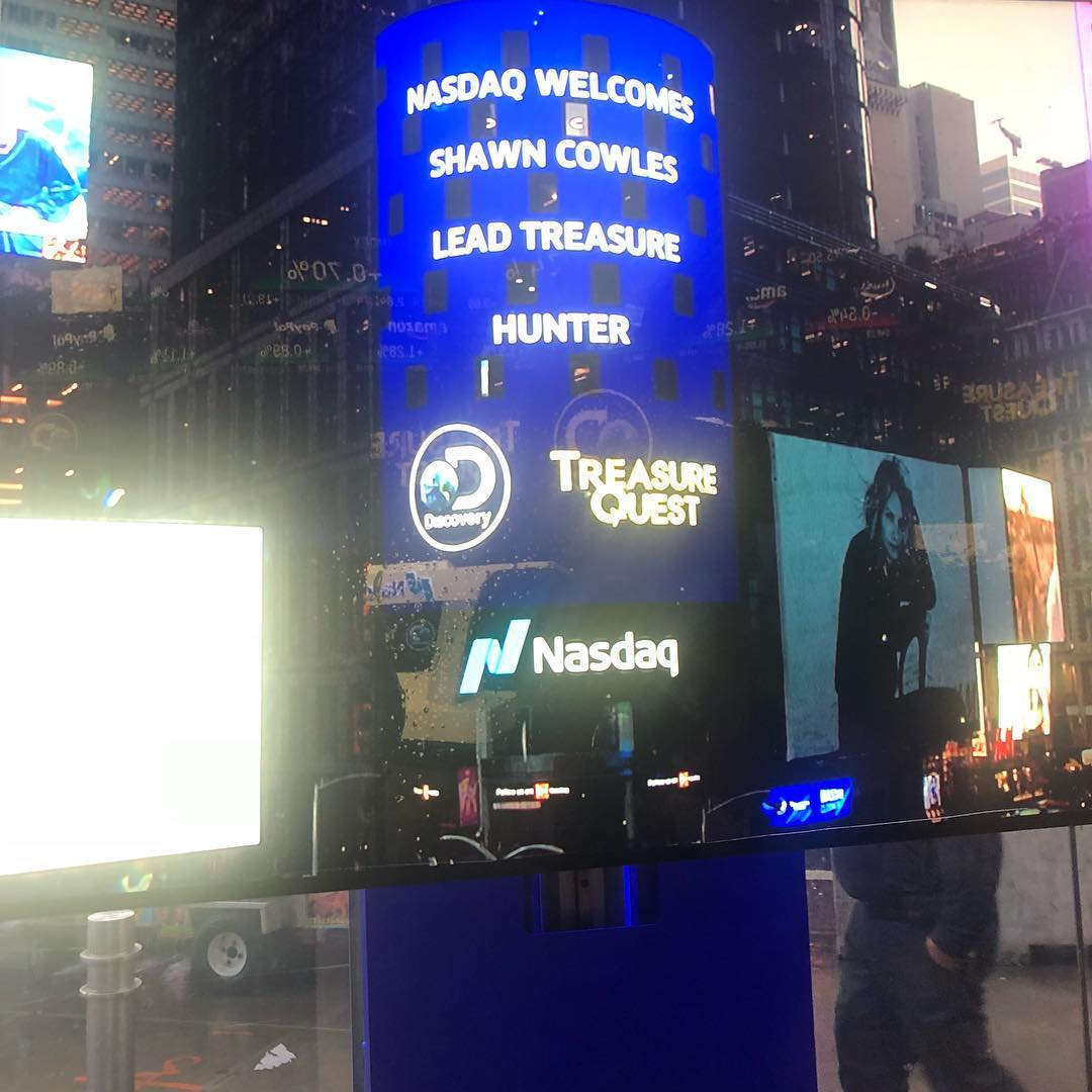 - It was an honor to represent @Discovery Channel & @Treasure Quest TV while closing @NASDAQ today