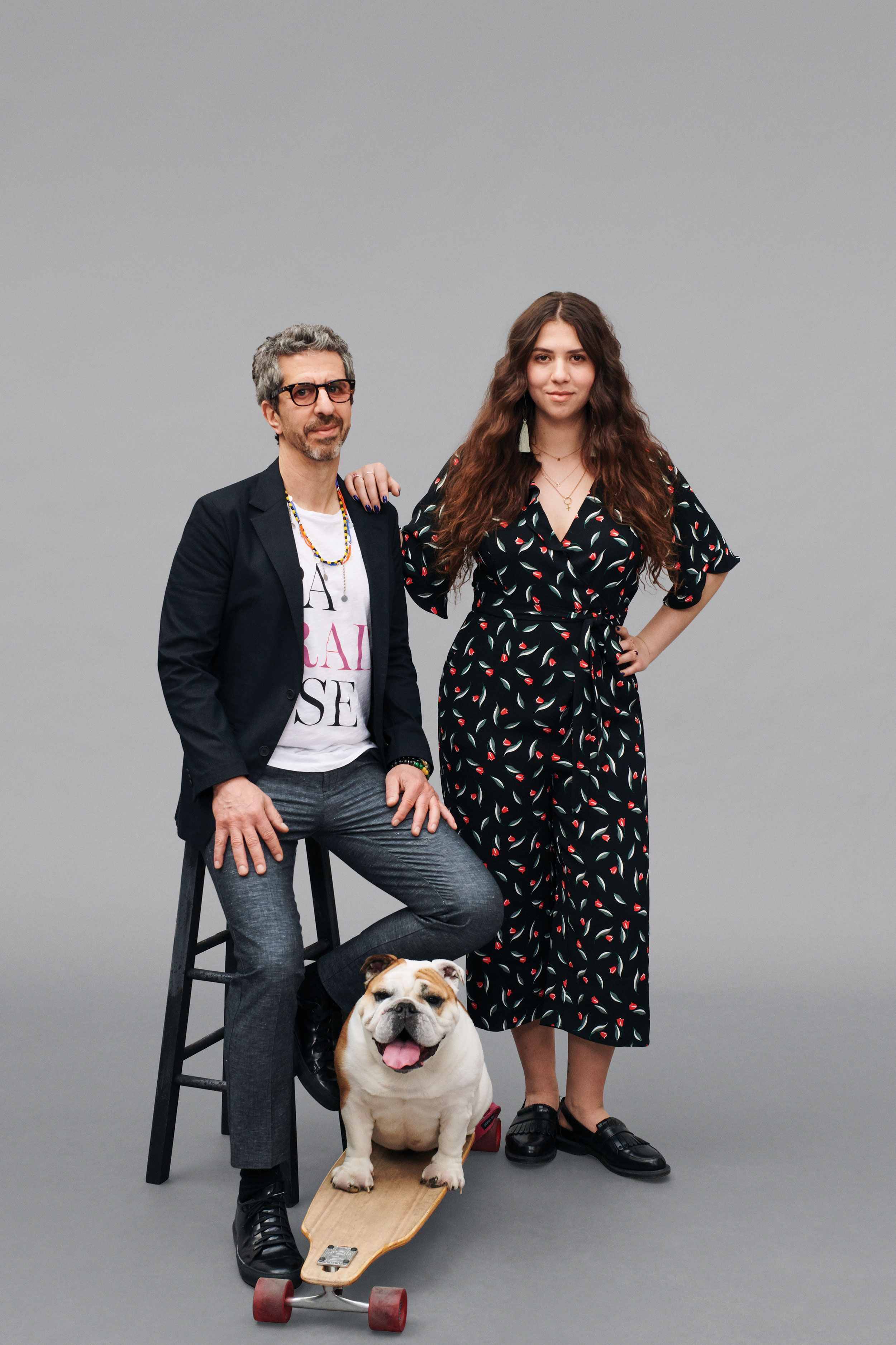 Jason wears the    Tech Blazer (Solid Black)   , the    Limited Edition Graphic Tee (Paradise)   , and the    Linen Trousers (Navy Chambray)