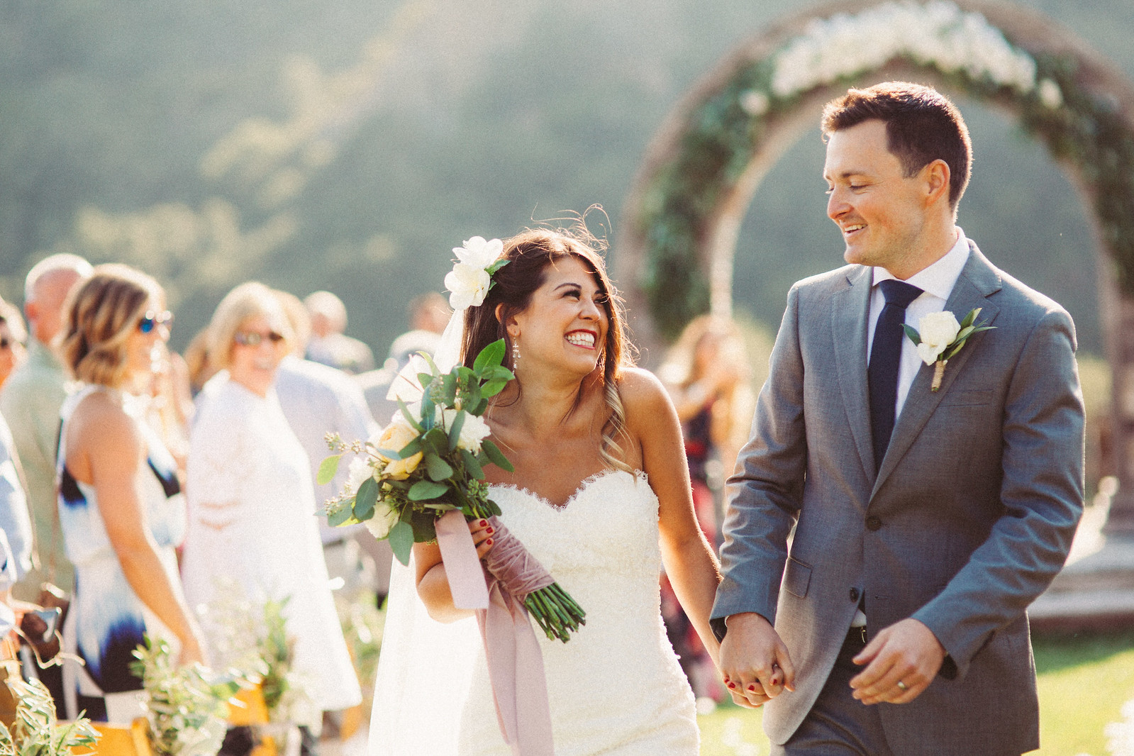 just married epiphany bride in justin alexander