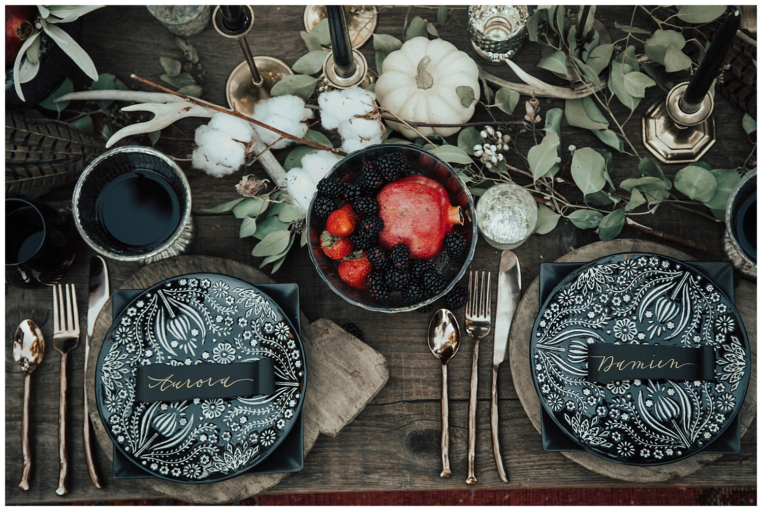 Carol Oliva Photography willow and plum table scape