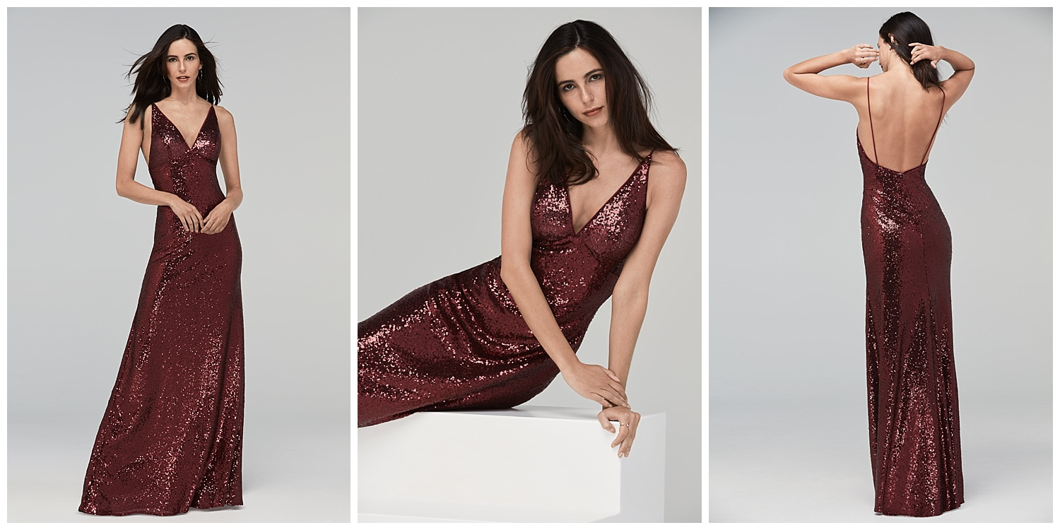 Watters fall 2017 sequin shimmer dresses