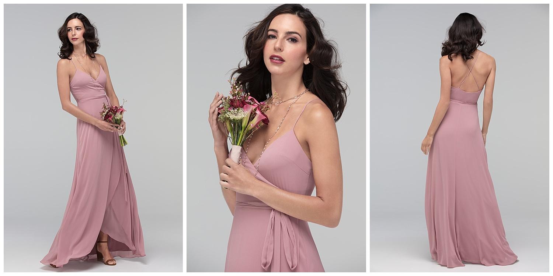 Watters fall 2017 bridesmaid blush crepe