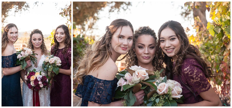 jen vasquez photography winery bridal party