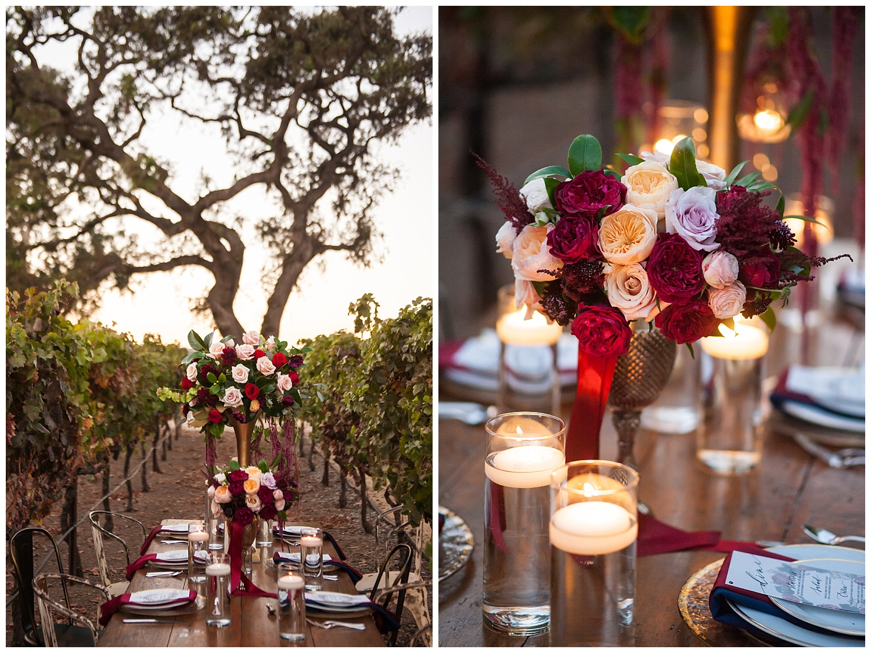 jen vasquez photography table in the vineyard