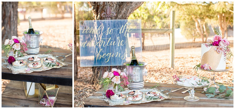 de joy photography wedding dessert table alpaca farm